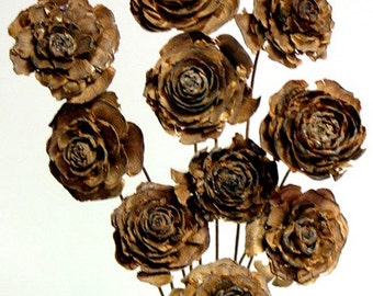 Popular items for cedar rose on etsy for Dried flowers craft supplies