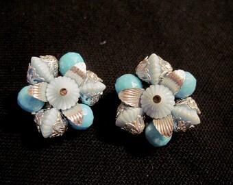 1950-1960's Vintage Beaded Earrings