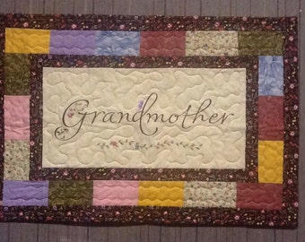 Wall quilt for a special grandma