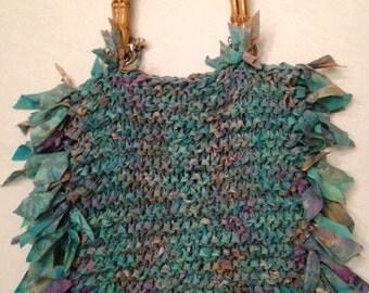 Hand knit purse
