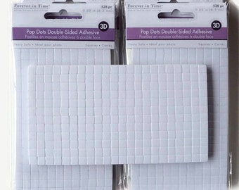 """Pop Dots Double-Sided Adhesive 528 Piece 3D Glue Dots Foam Pop Dots 1/4"""" Square Dual Adhesive"""