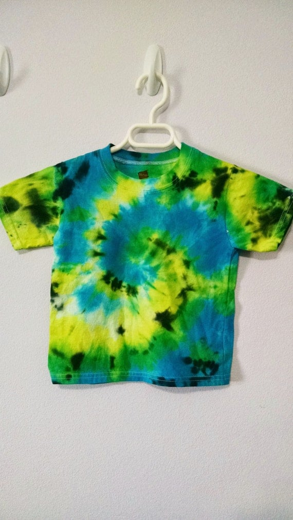 Items Similar To 3t Yellow Green Blue And Black Tie Dye