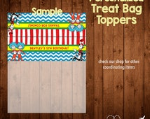 DR. SEUSS BIRTHDAY treat bag toppers- Digital File