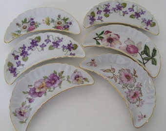 Bavarian Porcelain Dishes, Set of 6