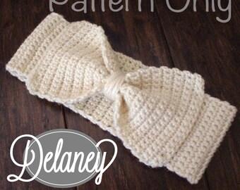 Delaney Ear Warmer (Crochet Pattern)