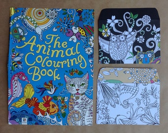 15 Handmade Animal Colouring In Book Envelopes