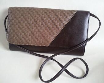 Vintage Brown CLUTCH / SHOULDER Ladies Hand Bag