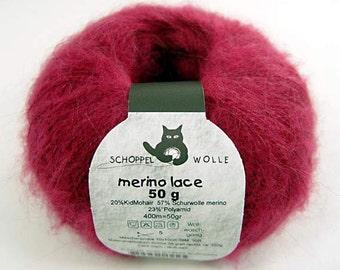 Blasslia Fuchsia Merino lace 50 g