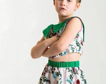 Girl Rockabilly Circle Skirt With Sugarskull