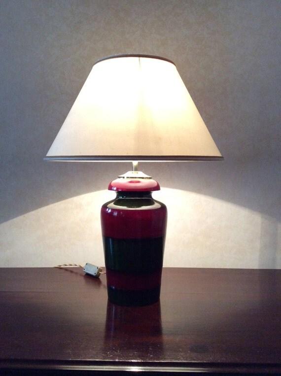 Lampada da tavolo base di legno per lampada tornita e laccata - Base per lampada da tavolo ...