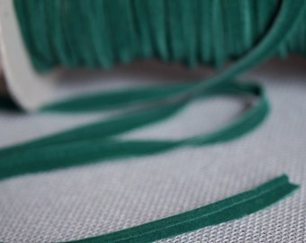 Suede Emerald Green Cording 1/2 inch wide