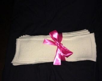 Organic hemp diaper insert