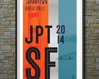 SF Muni Poster: Japan Town