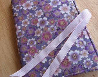 Floral fabric needle book