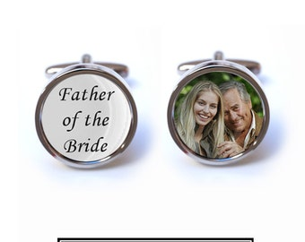 Custom Father of the Bride Photo Cufflinks