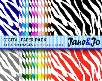 Zebra Digital Paper,Colorful Zebra Wallpaper,Rainbow Zebra Scrapbook Paper,Zebra Print Digital Paper,Zebra Pattern Background