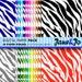 Zebra Digital Paper,Colorful Zebra Wallpaper,Rainbow Zebra Scrapbook Paper,Zebra Print Digital Paper,Zebra Pattern Background
