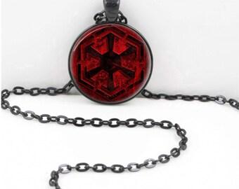 Star Wars Sith Empire Logo Symbol Necklace Pendant Jewelry Charm Art