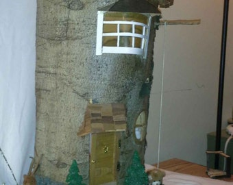 Hand craved tree house