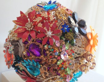 Brooch Bouquet/bridal bouquet/bouquet/Kaleidoscope/Multi-color/Made to order