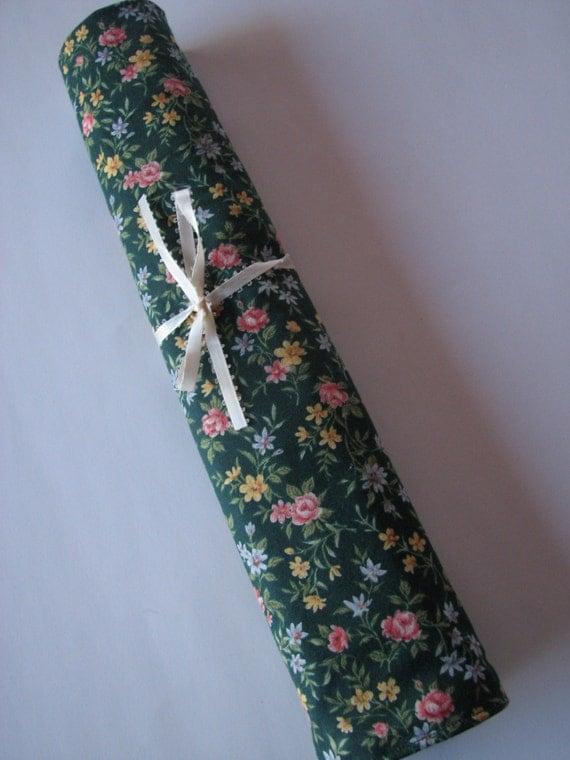 Knitting Needle Bag Pattern : Large Knitting Needle Roll-Up Bag
