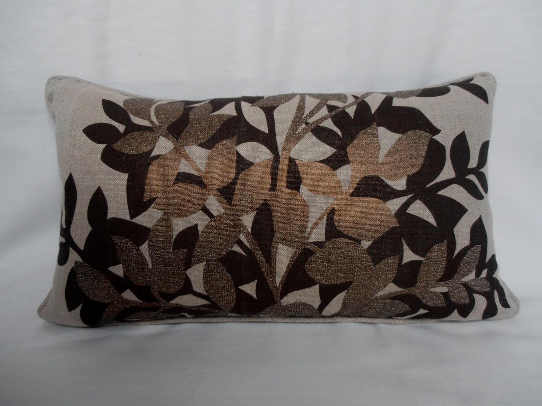 kissen abdeckung kupfer beige schokolade braun leinen. Black Bedroom Furniture Sets. Home Design Ideas