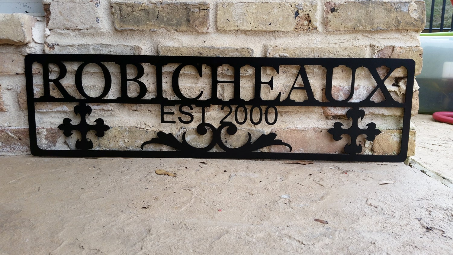 Personalized Family Sign Wall Decor Metal Family By