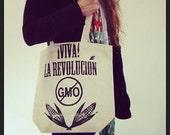 NO GMO ¡Viva! La Revolución Reusable Shopping Bag