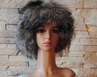 Genuine, Real ,Natural fur , Cap fur, Ushanka, Leather, Pelz, Fell  Mütze Leder