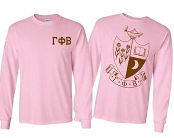 Gamma Phi Beta World Famous Crest Long Sleeve T-Shirt