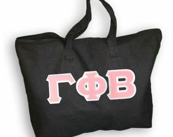 Gamma Phi Beta Lettered Tote Bag