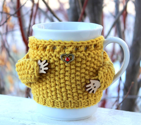 Yellow Mug Hug Cozy