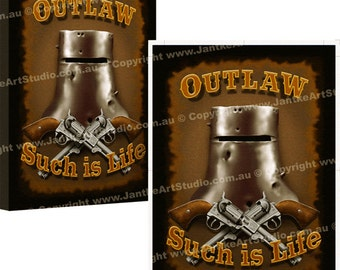 Ned Kelly Outlaw Art Canvas Print by Peter Jantke