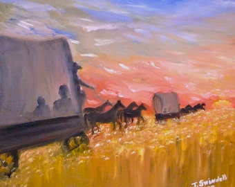 """Fields of Gold, 18"""" x 18"""" oil on canvas original painting"""