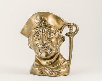 Brass Pirate Jug - Brass collectable - Beach Hut Decor - Seaside Decor - Skull and Cross bones