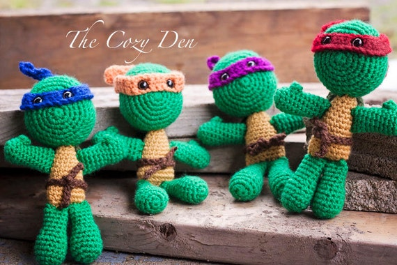 Teenage Mutant Ninja Turtles Amigurumi Plushies by ...
