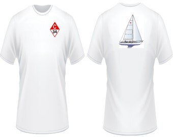 Catalina 34 Sailboat T-Shirt