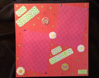 """12x12 Scrapbook Pages-Completed, """"Sisters"""""""