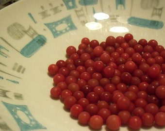 Red Plastic Bead Destash