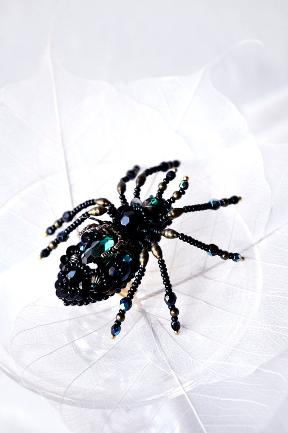 items similar to spider jewelry large spider ring