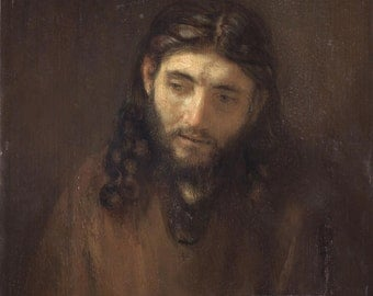 Head of Christ by Rembrandt - Portrait of Jesus Christ - Print - Christian Art - Catholic Gifts - Archival Print in Three Sizes