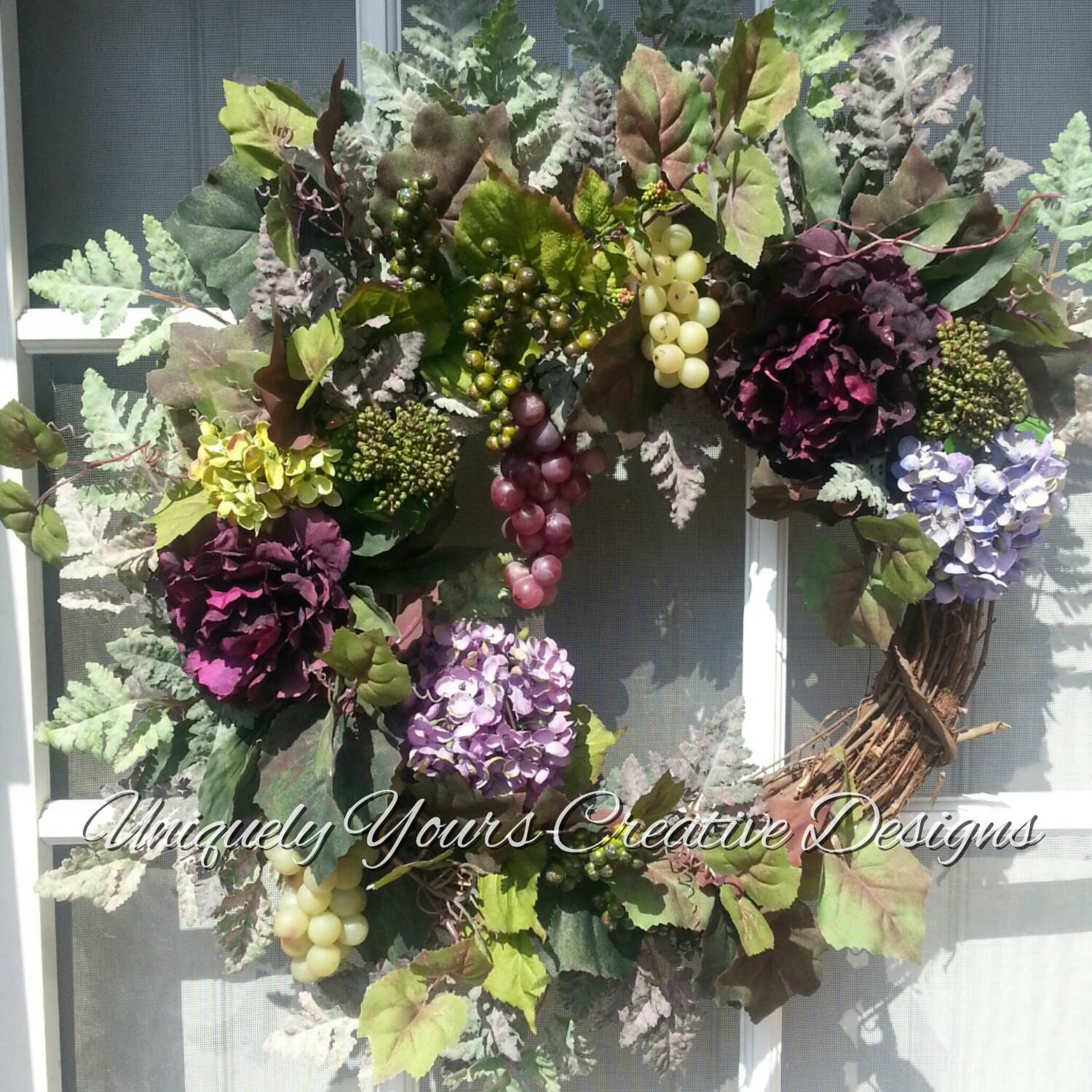 Tuscan Wreath Wine Lovers Wreath Grape Wreath Elegant