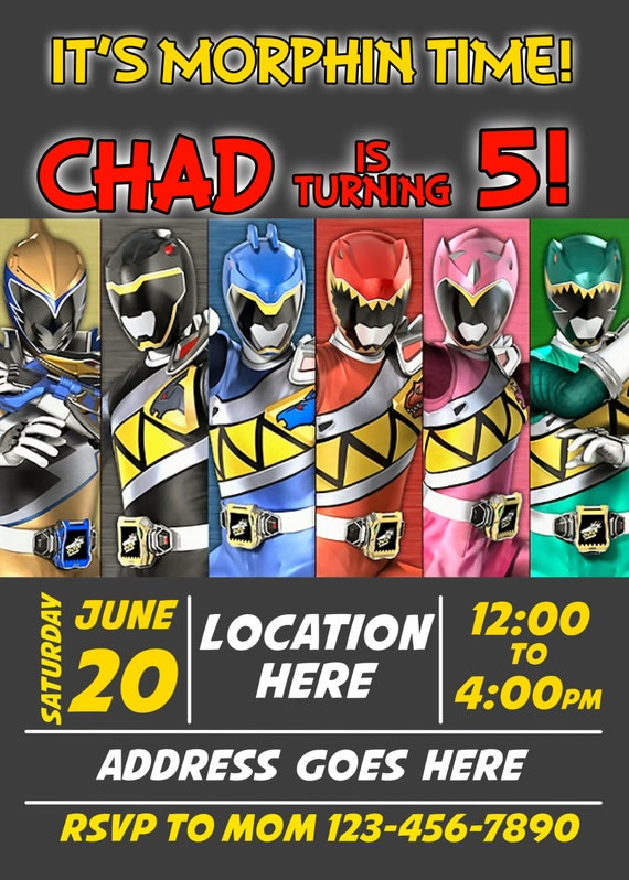 Power Ranger Birthday Party Invitations – Power Rangers Party Invitations