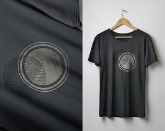 Mens T-shirt 2 Circle Overlay Print