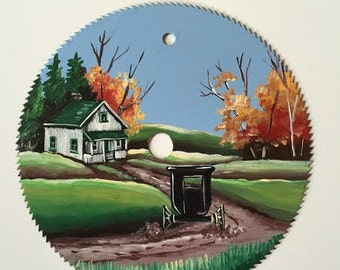 Hand Painted Round Saw Blade