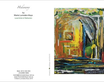 Hideaway blank greeting card