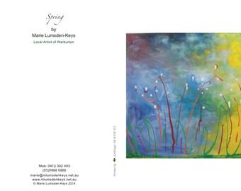 Spring blank greeting card