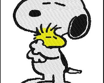 Snoopy Woodstock Embroidery Design