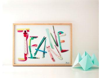 Table name Jeanne framed
