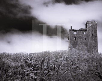 The Ruins of Ballinalacken {PRINT - Irish Ruins, Castle Photography, Castles of Ireland}